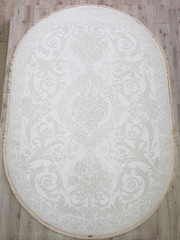 Ковер 36282D OVAL WHITE / WH